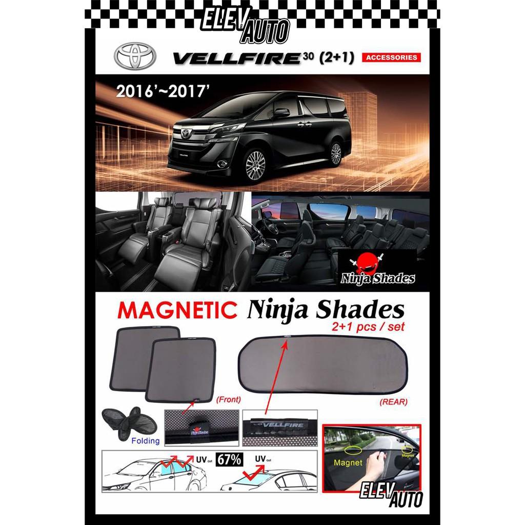 Toyota Vellfire AH30 2016-2021 (3 pcs set) Ninja Shades OEM Magnetic Sunshade