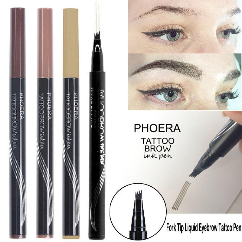 Sale Music Flower Eyebrow Tattoo Pen Waterproof Fork Tip Sketch