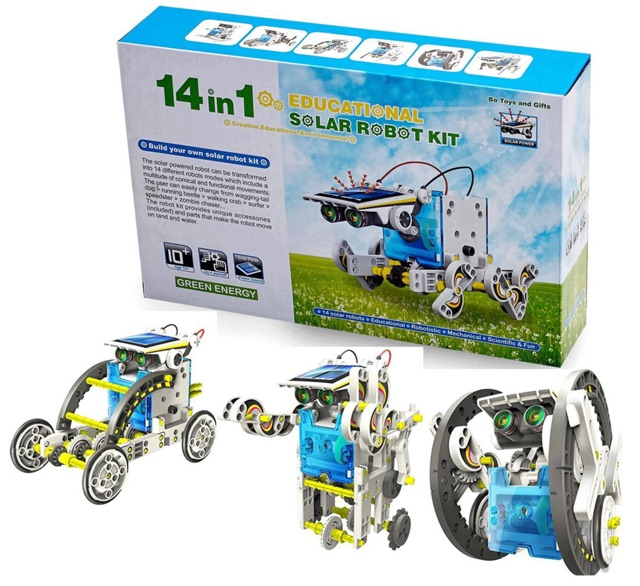 14 in 1 DIY Solar Education Robot Toys-Rechargeable