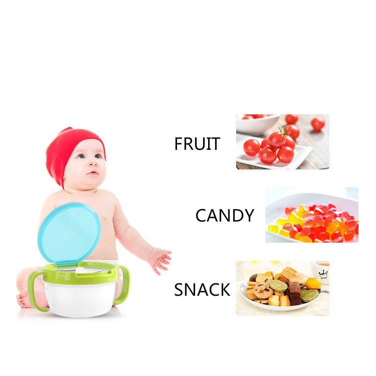 1pc Baby Kids Feeding Bowl Cup Anti-sprinkle Fruit Snack Food Container Utensils