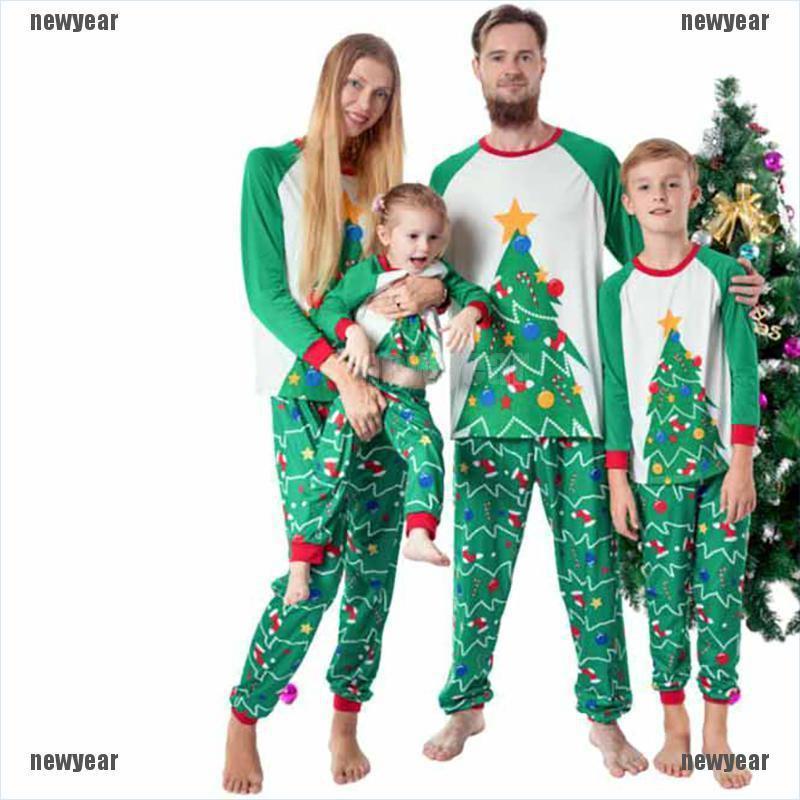 Children Adult Family Matching Christmas Pajamas Sleepwear Nightwear Pyjamas Set