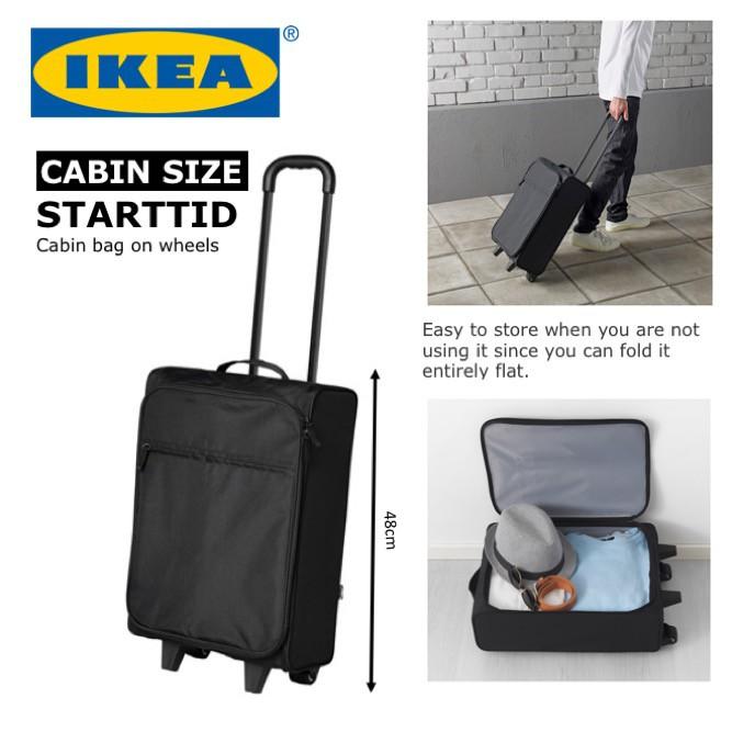 4fc016f857bb5 IKEA STARTTID Cabin Size Travel Luggage Bag on wheels Lightweight Drag