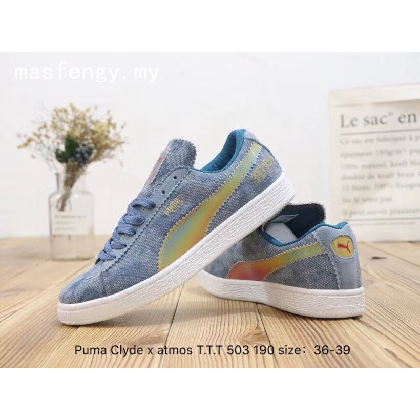 new arrival 6e0f1 c2f04 Puma Clyde x atmos T.T.T Comfortable Women's sports casual sneakers shoes