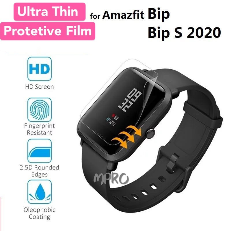 [Ready Stock]Amazfit Bip S Bip U Ultra Thin Soft TPU Screen Protector Film For Huami Amazfit Bip 1S Watch Protector