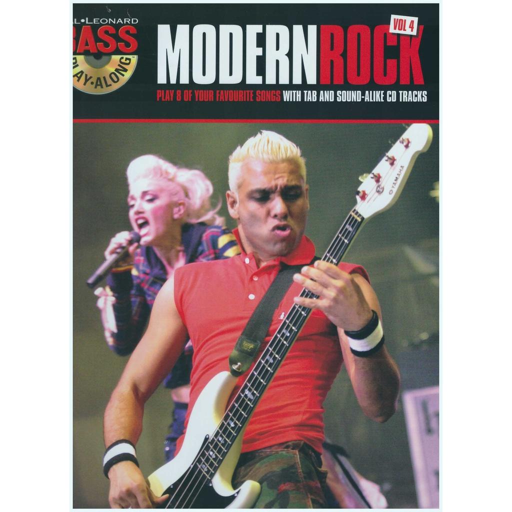 Hal Leonard Bass Play-Along Modern Rock Vol 4 / Bass Guitar Book / Bass Gitar Book / Music Book