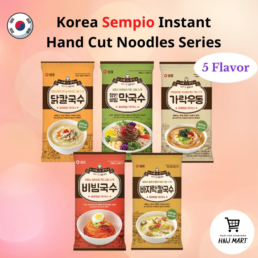Korea Sempio Instant Hand Cut Noodles Series 韩国手工汤面 [Buckwheat/Spicy Cold Noodle/Chicken/Clam/Katsuo Noodle Soup]
