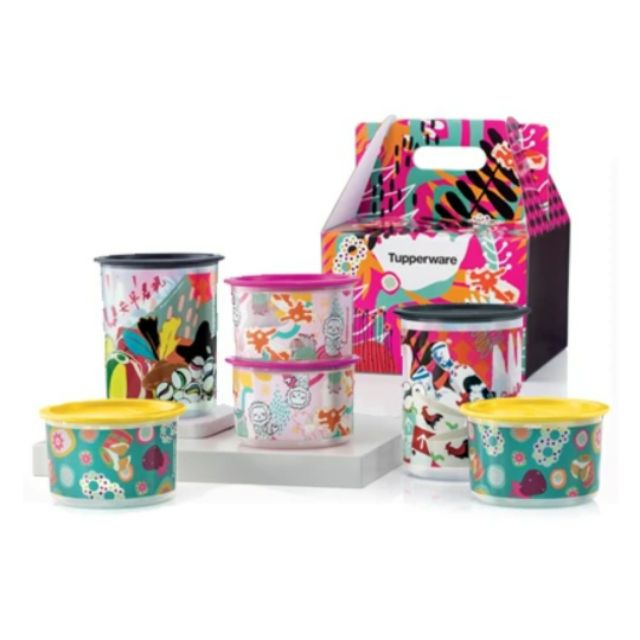 🔥SALE🔥 Tupperware One Touch Singapore Heritage Pop Art Collection