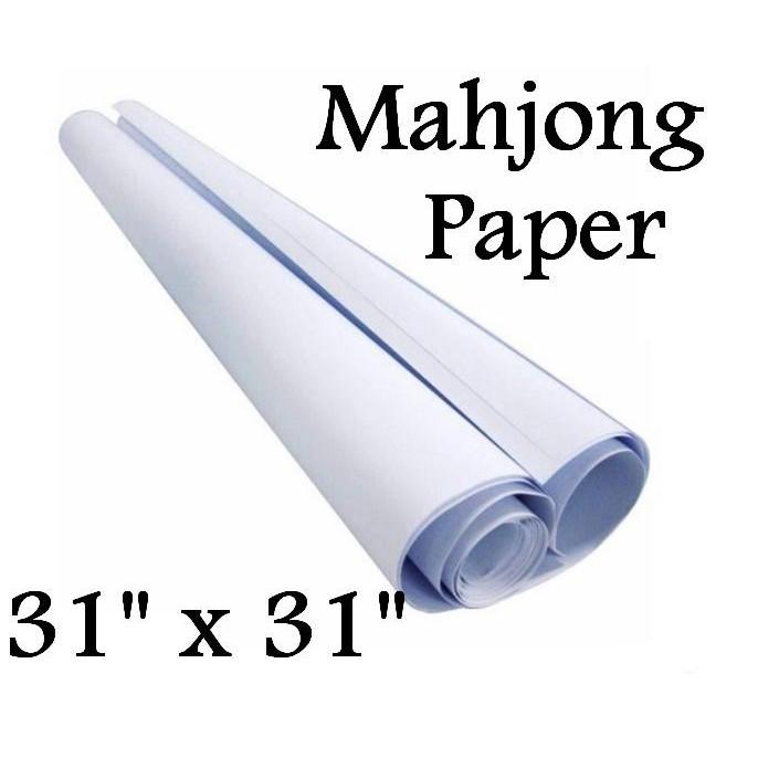 "White Paper 31"" x 31"" 50gsm 50sheets Kertas Minyak / Pola / Mahjong / Pembalut Buku / Wrapping Parcel / Kertas Putih"