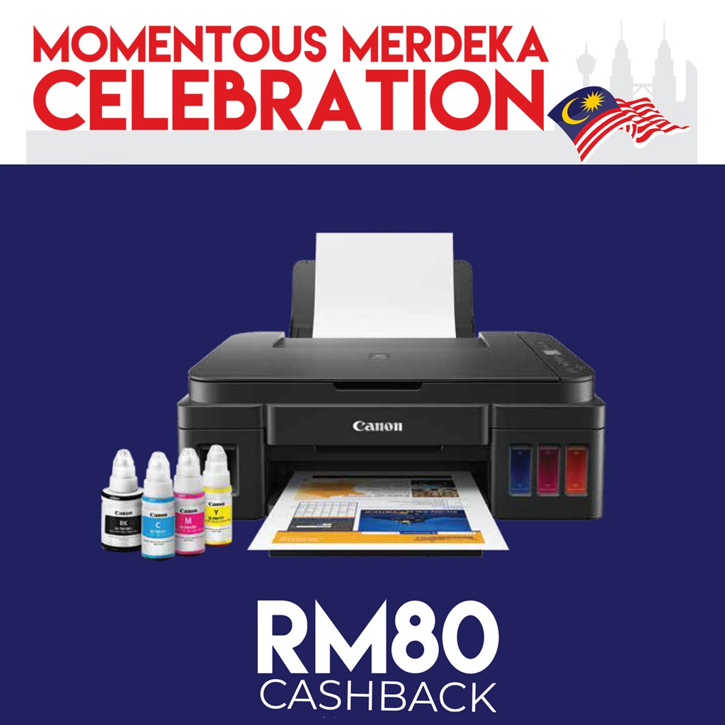 CANON PIXMA G2010 All-In-One Ink Tank PRINTER - Print , Scan , Copy + RM80  cash back