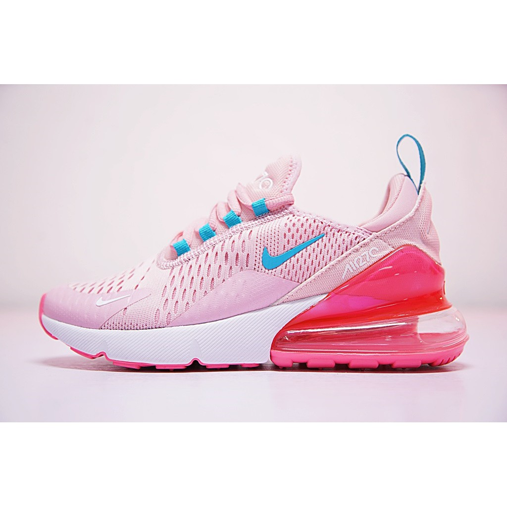 purchase cheap 0ad56 dbe9e Nike Air Max 270 Shoes Women Airmax 27c Running Shoes Casual Walking Kasut  Pink