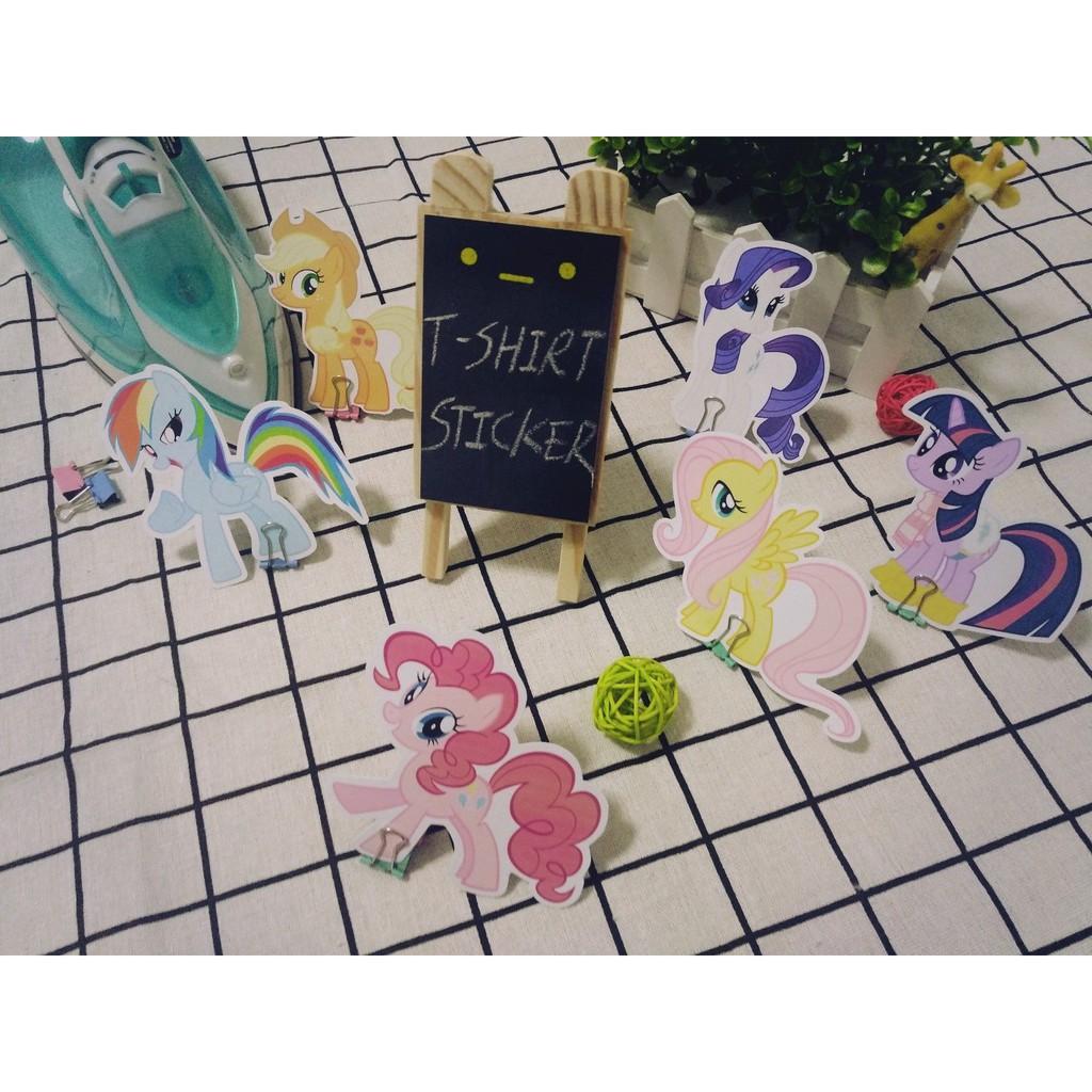 My little Pony Clear Sticker Waterproof Party Bag Candy bag seals bumper sticker