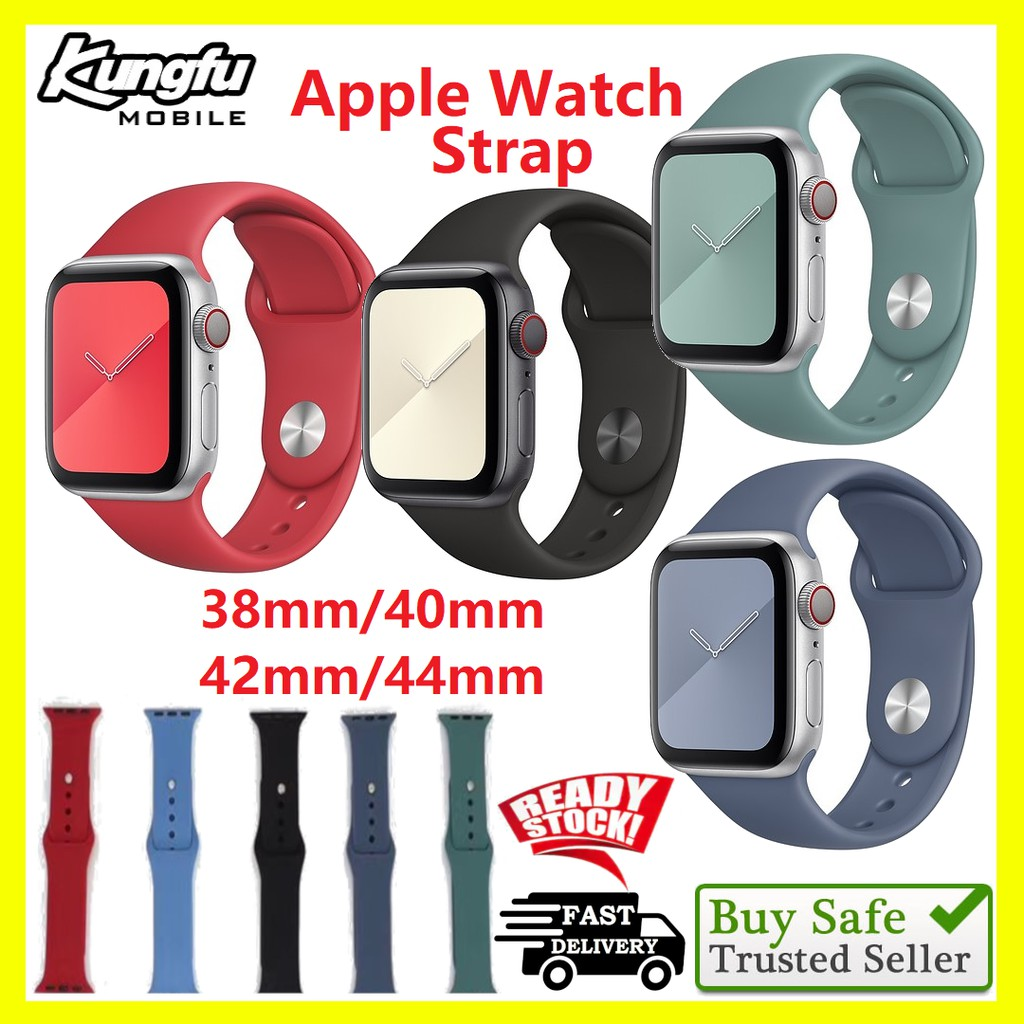 Apple Watch Strap 38/40mm 42/44mm Soft Silicone for 5/4/3/2/1