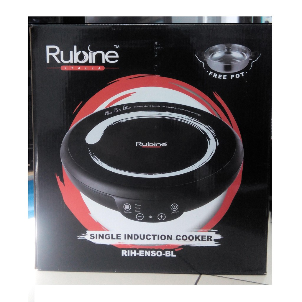 Rubine Electric Ceramic Induction Cooker RIH-ENSO-BL (Free Cooking POT)