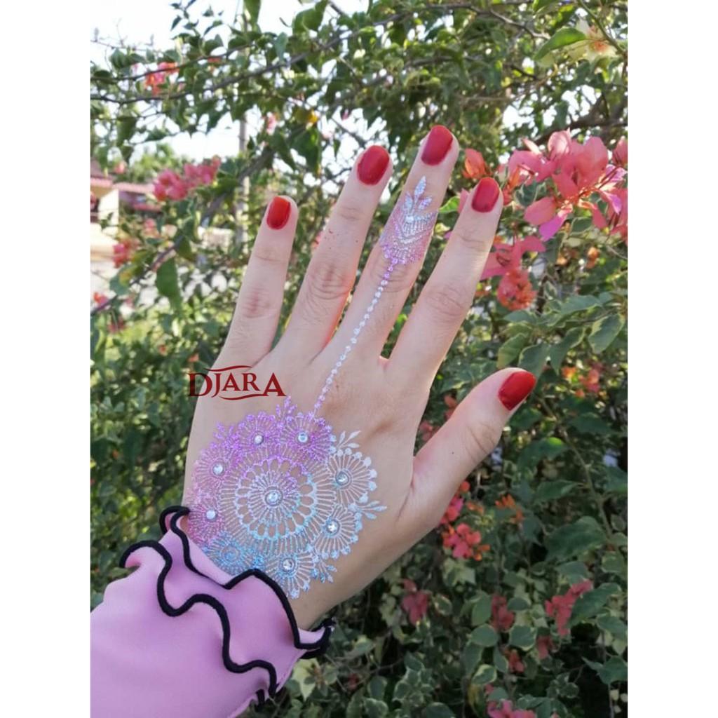 Glitter Henna Glitter Powder Ready Stock Shopee Malaysia