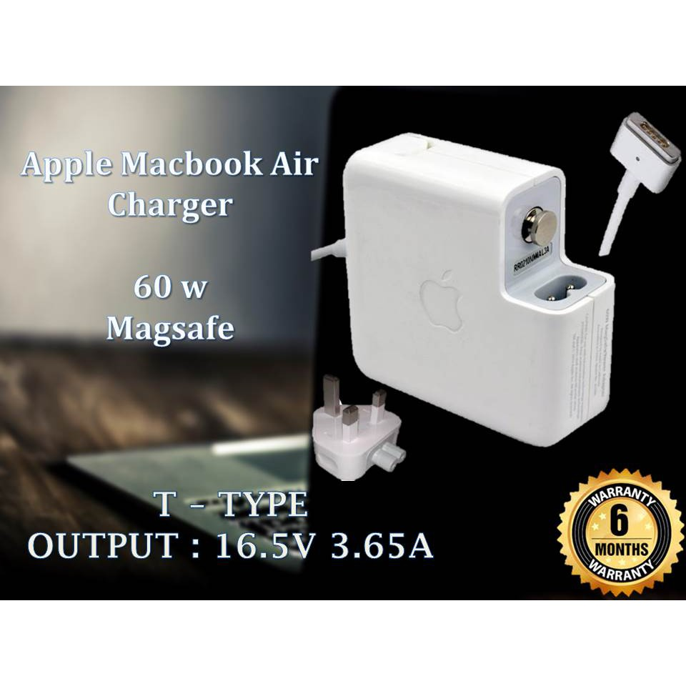 Apple Magsafe 2 Adapter Charger Macbook 60 Watt Oem 60w 165v 365a For 13 Pro Shopee Malaysia