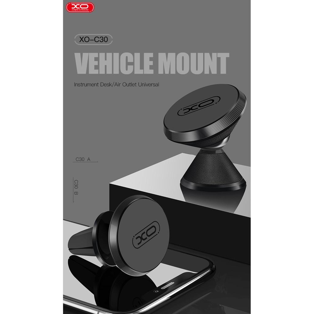XO C30 PREMIUM MAGNETIC CAR HOLDER DASHBOARD CAR MOUNT 360 DEGREE ROTATION ALUMINIUM ALLOY INSTRUMENT DESK AIR OUTLET