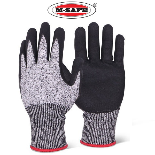 M-Safe Full Nitrile Cut Resistance Cut 5 Glove