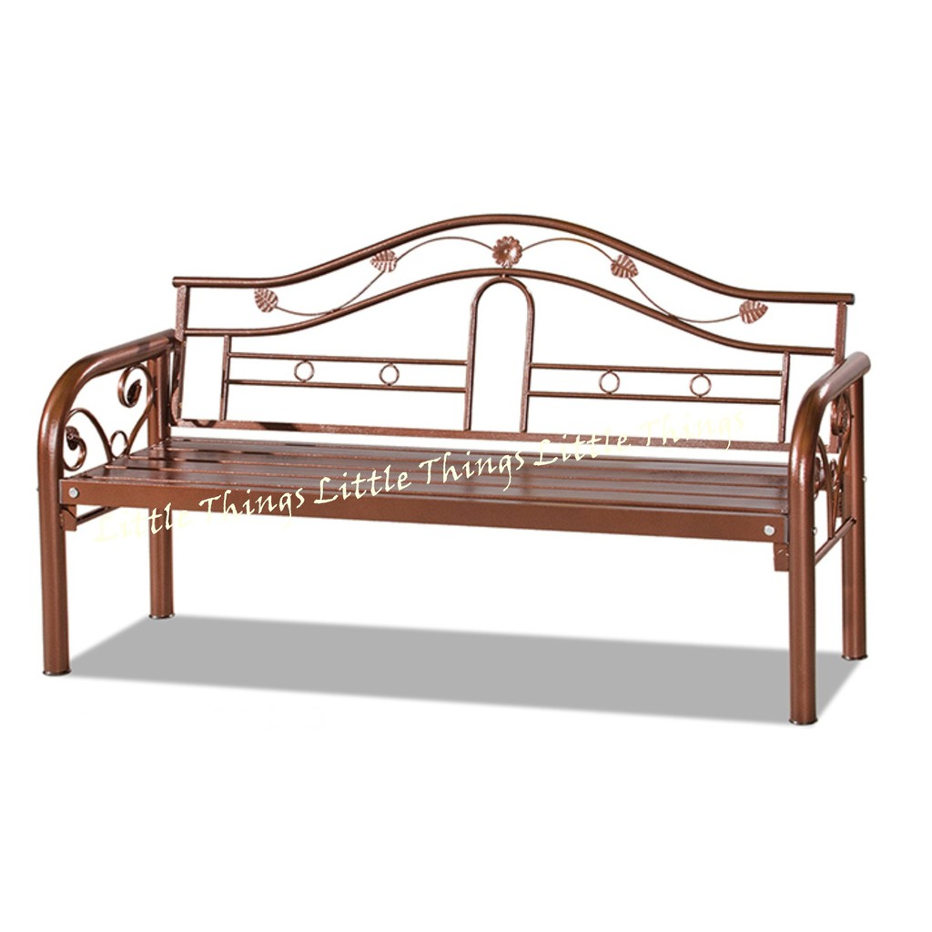 Long Bench Chair Antique Brown