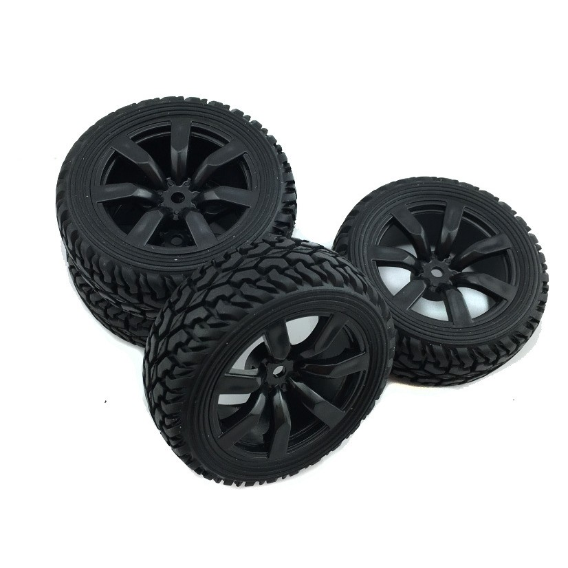 4pcs Racing Tires Wheel Rim for HSP HPI RC 1:10 Rally Car Rock Crawler Parts