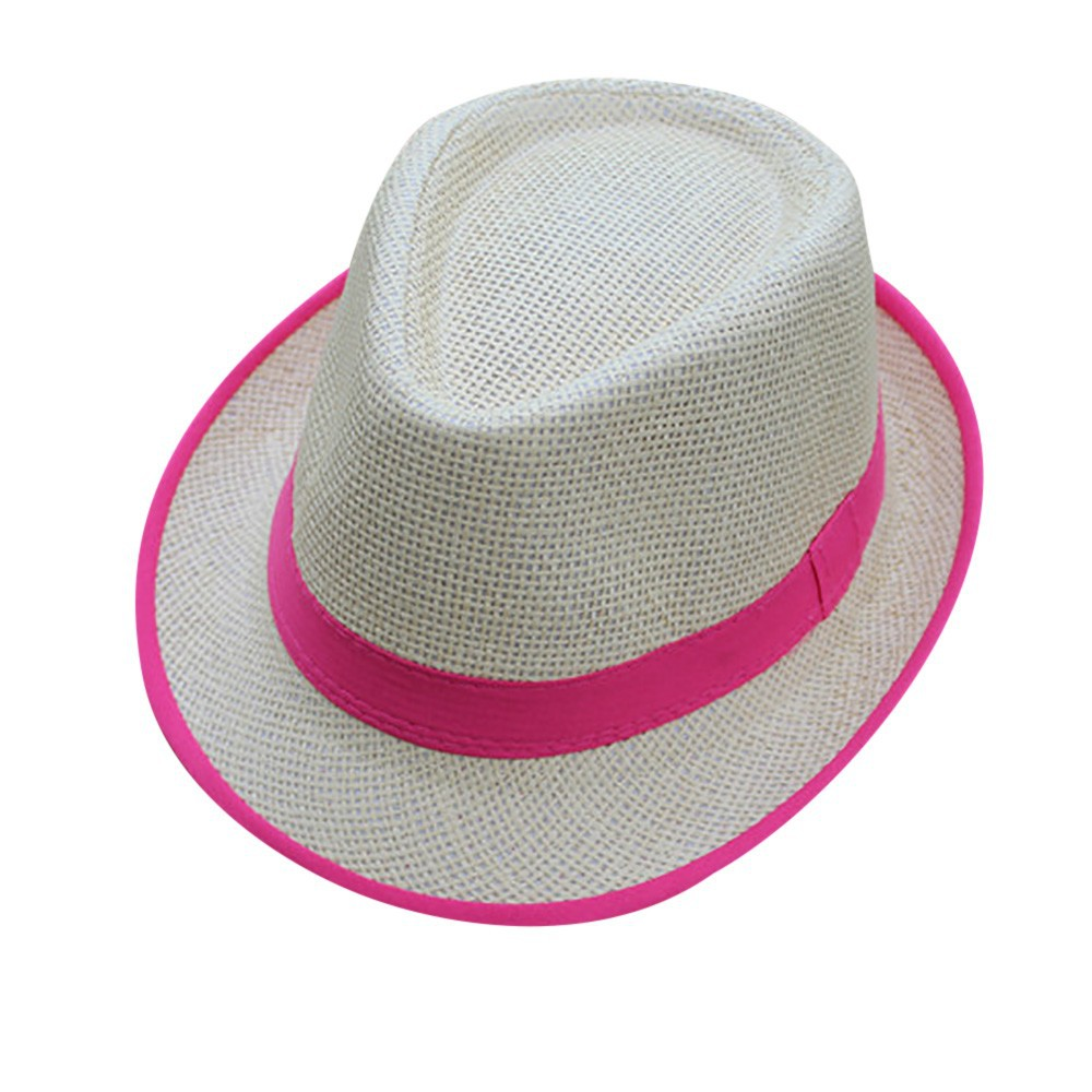 Hawaiian Adults Gangster Straw Hat With Flower Band Unisex Hair Accessories