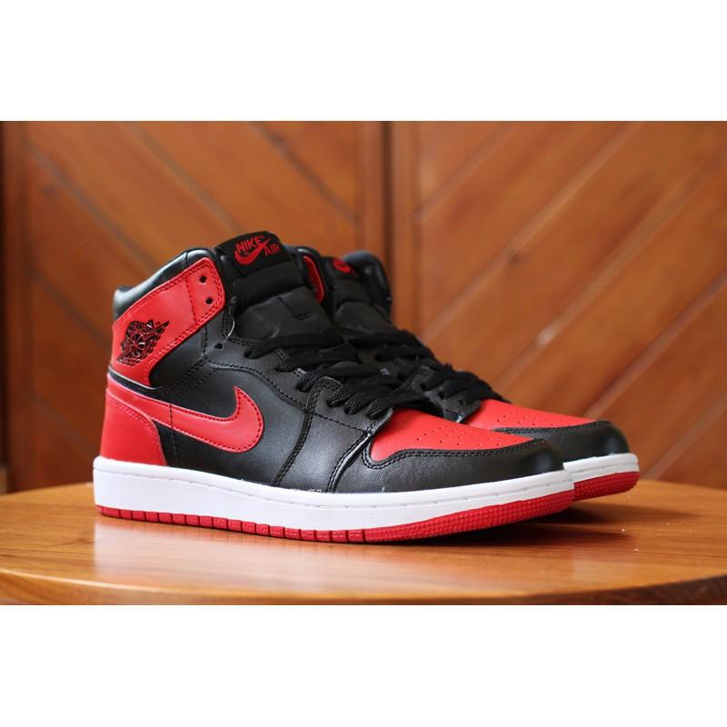 meet febab c626a [lakers] Nike Air Jordan 1 AJ1 High men shoes running shoes Black Red 36-46