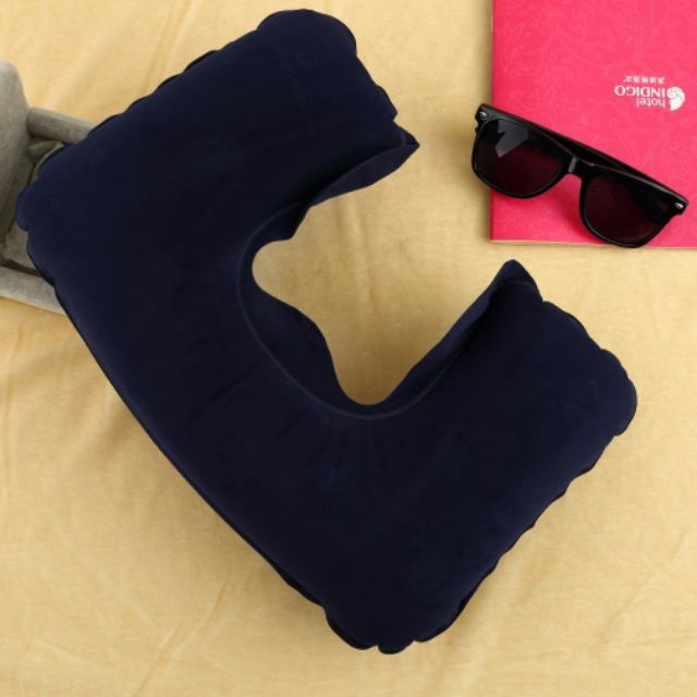 Inflatable Travel Pillow Air Cushion Neck U-Shaped Compact