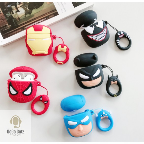 {Ship Out Within 24 Hours} Airpod 1/2 Case - Venom, Captain American, Ironman, Batman, Spiderman
