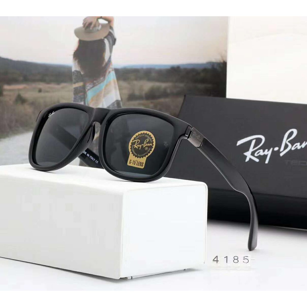 4afb882594 🔥Ready Stock 🔥Ray-Ban RB4185 Fashion Pilot Polarized light Sunglasses