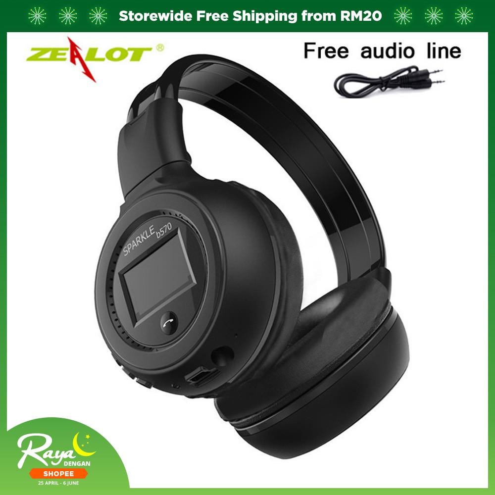 f9dbbf35e21 Stereo Bluetooth Headphone with MIC FM Support (BLACK) | Shopee Malaysia