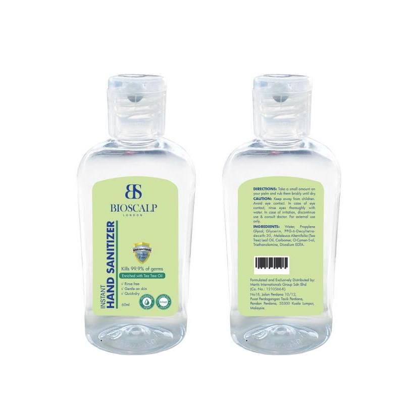 Bioscalp Hand Sanitizer Anti Bacterial Alcohol Free 60 ML