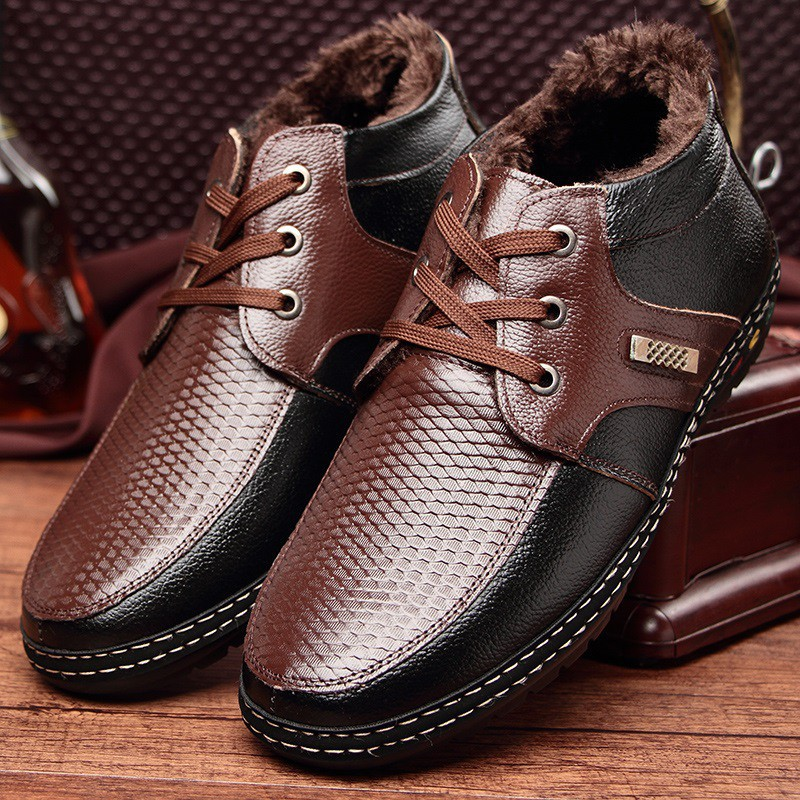 751b90dac521 Office Warm Fur Handsome Men Dress Formal Bridal Leather Shoes KL2904
