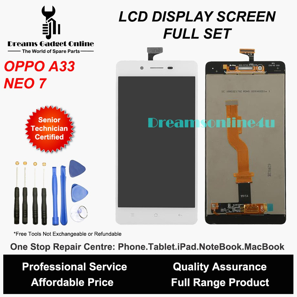 Replacement LCD Display Screen Digitizer for OPPO NEO 7 A33 A33F Full Set