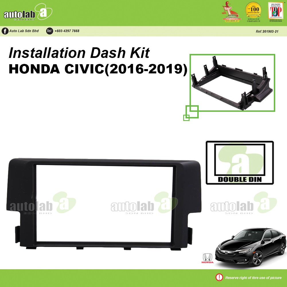 Player Casing Double Din Honda Civic 2016-2019