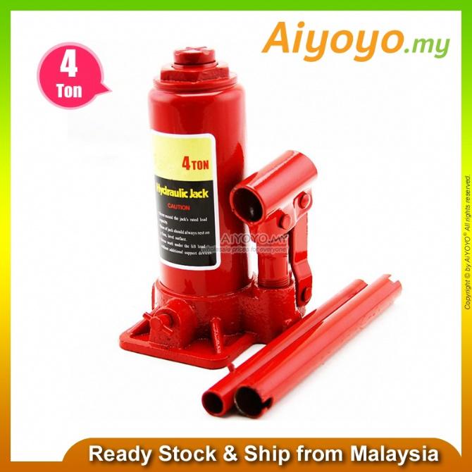 4 Ton Heavy Duty Hydraulic Lifting Bottle Jack Floor Jack Car Vehicle Truck Repairing Hand Tool Car Van SUV Workshop Rep