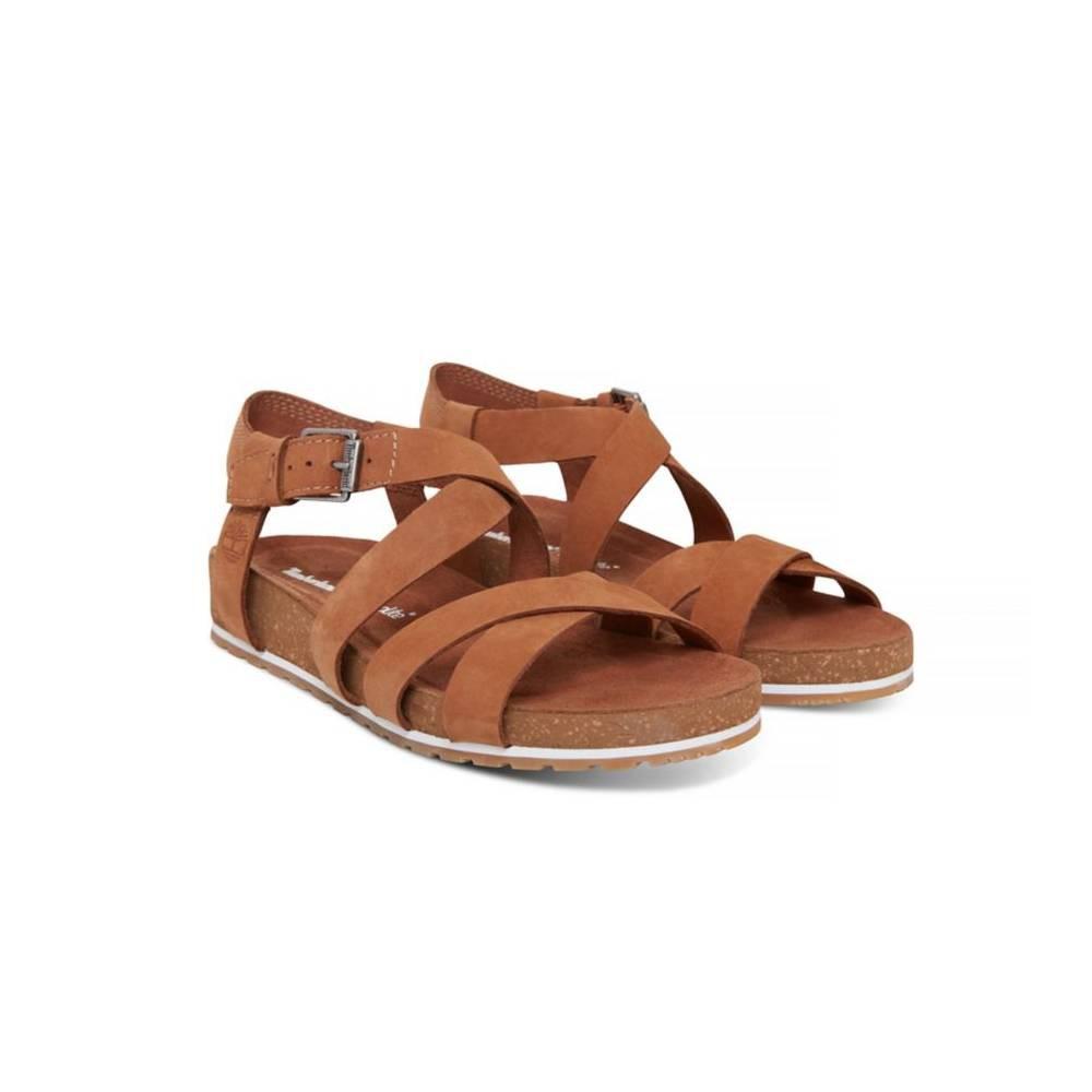 60b2791250fc Timberland Womens Malibu Waves Ankle Strap Sandal Brown