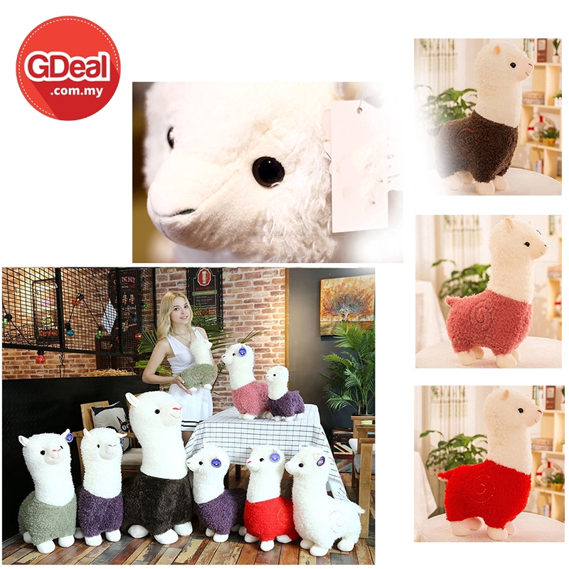 GDeal 65cm Fluffy Alpaca Grass Mud horse Plush Toy Suitable For Children Or Adult Best Gift For Christmas