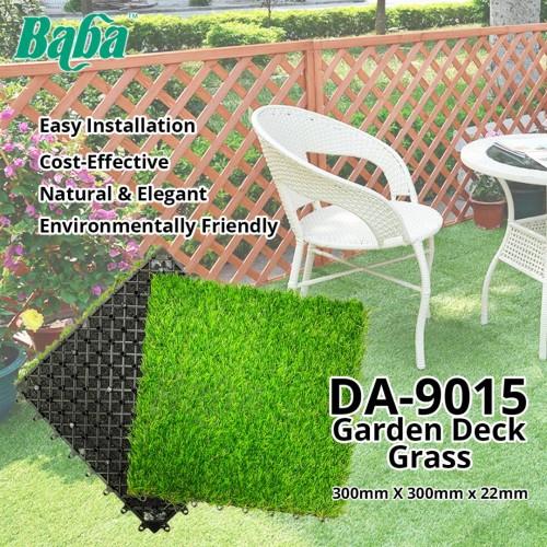 Baba DA-9015 Garden Deck Artificial Grass Home Decoration 22MM (T) x 300MM (W) x 300MM (L) - Rumput Tiruan