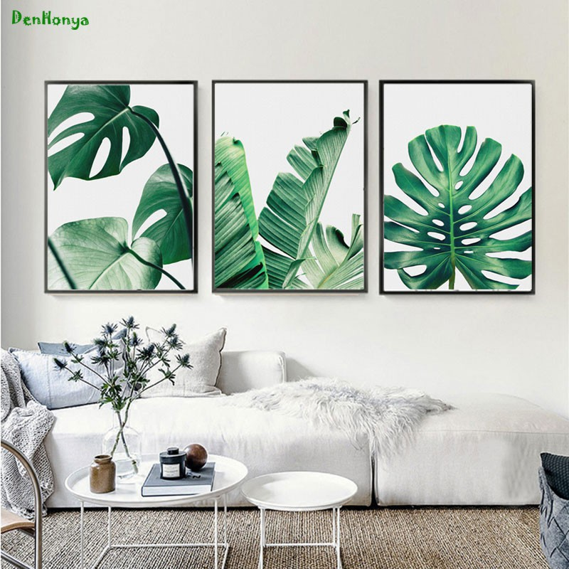 Nordic Modern Green Plant Canvas Painting Poster Picture Wall Art Home Decor My