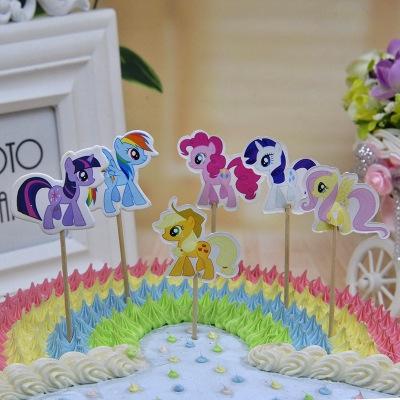 Super 24 Pcs My Little Pony Cake Topper Cake Decorating Shopee Malaysia Funny Birthday Cards Online Ioscodamsfinfo