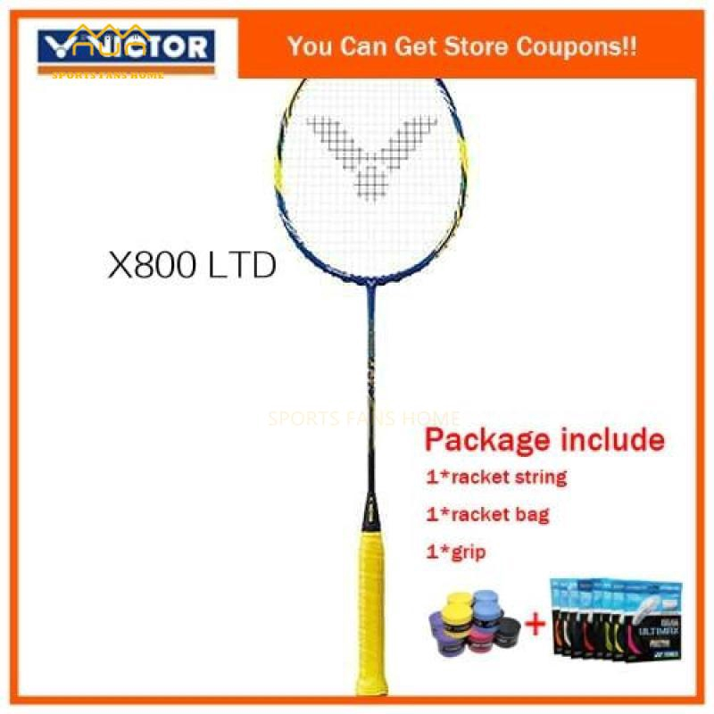 Victor Badminton racket Hypernano x800 strung with overgrip x800 badminton bat