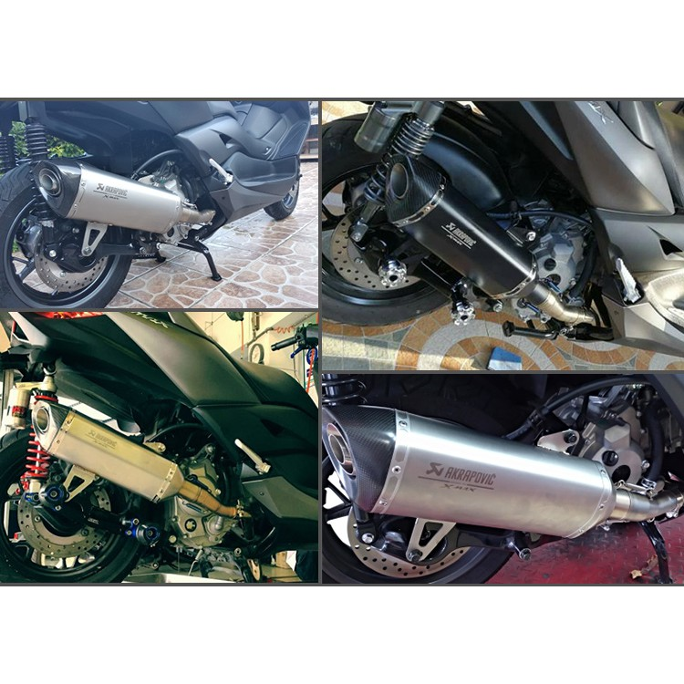 Xmax 300 Laser Logo Scooter Modified Carbon Fiber Muffler Escape Exhaust Pipe For Yamaha XMAX250 XMAX300 2017-18