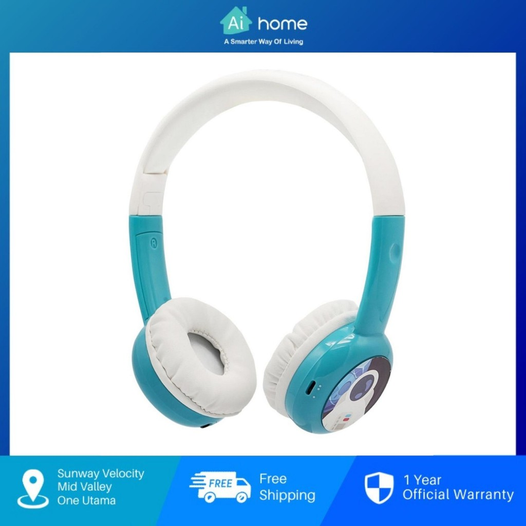 BAMINI Study - Child Stereo Over-Ear Wired Headphone   Low Decibel Hearing   Early Childhood Education with Microphone
