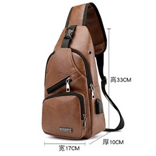 READY STOCK LEATHER CHEST BAG SLING BAG CHARGE CONNECT PART