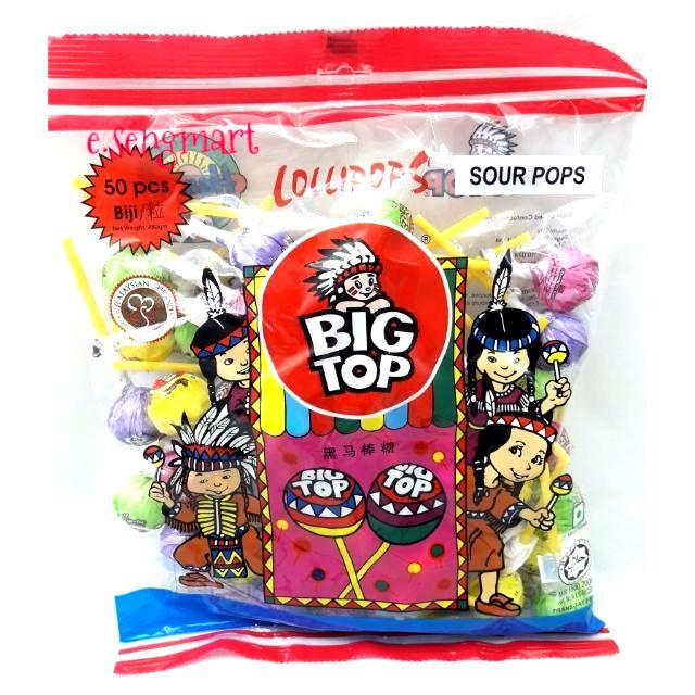 Big top lollypop (sour) 50's