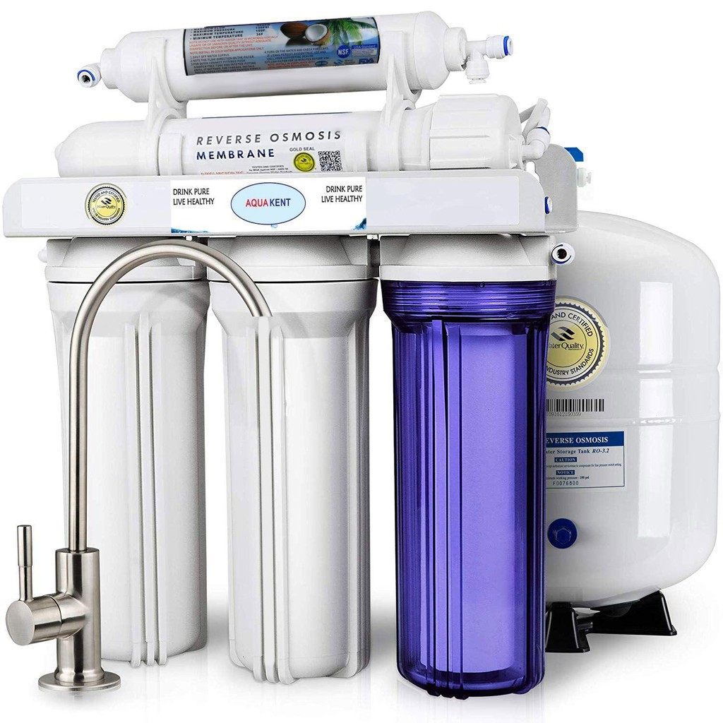 Aqua Kent Under Sink 5-Stage RO Water Filtration System with Pump And SS  Faucet