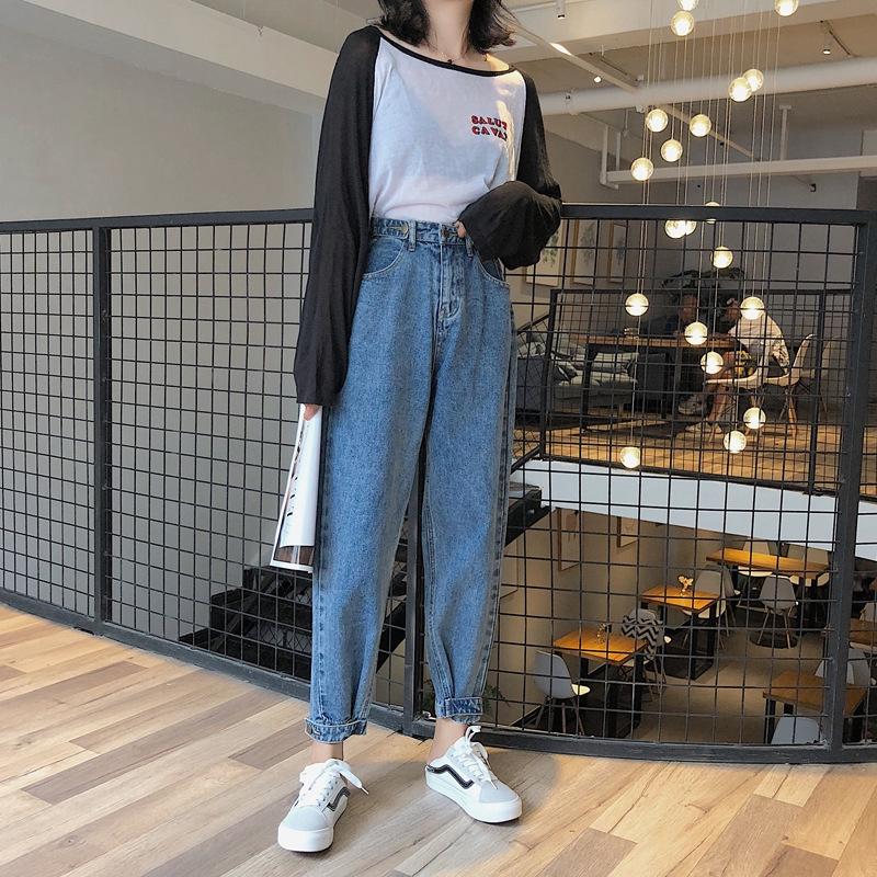 91f4020a55bab 2019 New Women S High Waist Loose Wide Legs Fashion Women S Jeans ...