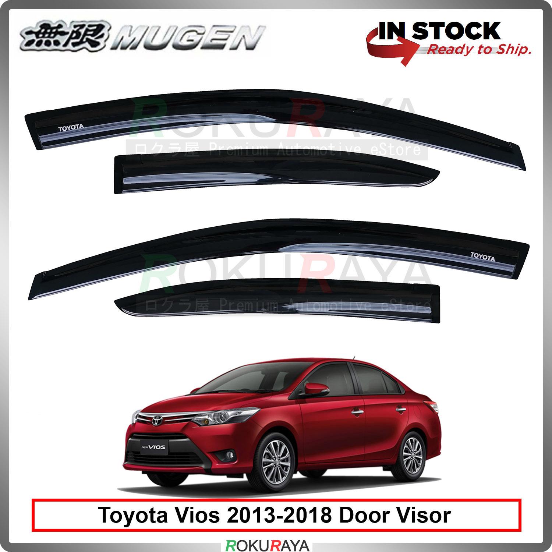 Toyota Vios XP150 (3rd Gen) 2013-2018 Mugen Curve Door Visor Air Press Wind Deflector (8cm Width)
