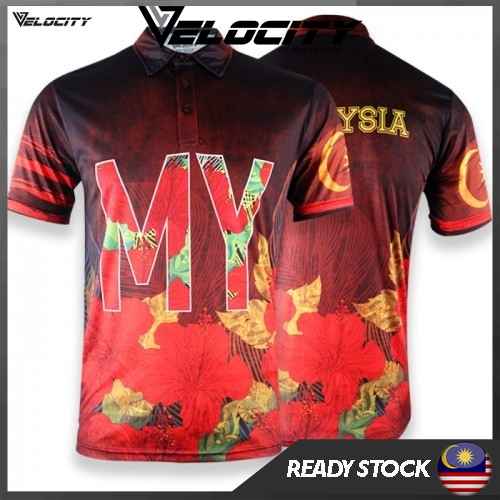 Velocity Velocool Red Bunga Raya Collar Adult Polyester