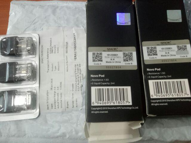 1.2ohm SMOK NOVO Pod Cartridge Vape Coil 2ml E Cig