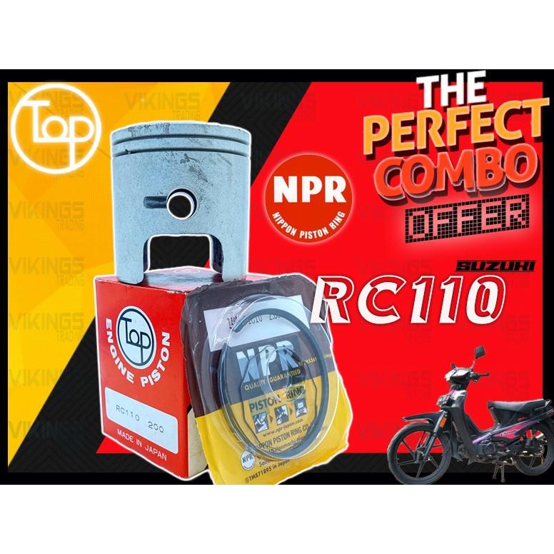 RC110 BEST JAPAN TOP PISTON NPR RING ORIGINAL IMPORT TOP STD - 2.00